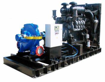 Дизельные насосы (агрегаты) ДНА на раме, полозьях, шасси прицепа для мобильного, аварийного водоснабжения, дренажа, пожаротушения